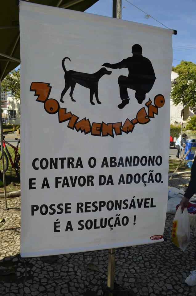Slogan da ONG Movimenta-Cão