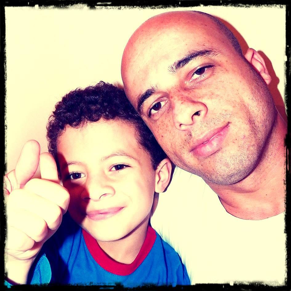 Fabio e Ian Gracia Foto: Arquivo Pessoal
