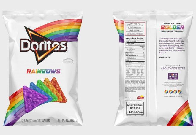 salgadinhos sabor arco-íris